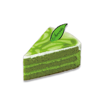 宇治抹茶のケーキ