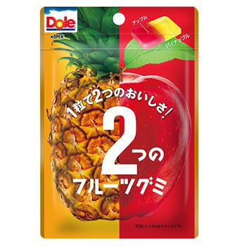 45gドール2つのフルーツグミ(パイナップル&アップル)