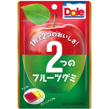 45gドール2つのフルーツグミ(青りんご&赤りんご)