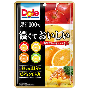 80gドール濃くておいしい果実アソートキャンディ袋
