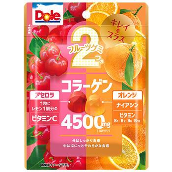 75gドール2つのフルーツグミアセロラ&オレンジ(キレイをプラス)