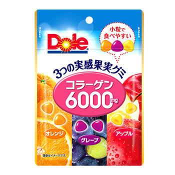 73gドール3つの実感果実グミ(コラーゲン6000mg)