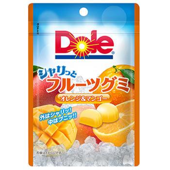 40gドールシャリっとフルーツグミ(オレンジ&マンゴー)