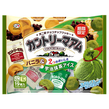 19枚カントリーマアム(バニラ&宇治抹茶アイス)