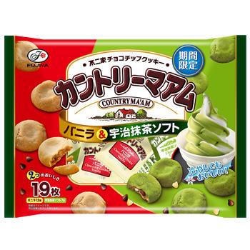 19枚カントリーマアム(バニラ&宇治抹茶ソフト)