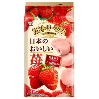 14枚カントリーマアム(日本のおいしい苺)