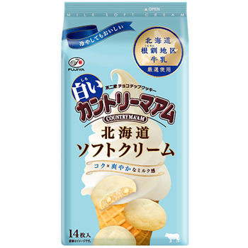 14枚白いカントリーマアム(北海道ソフトクリーム)