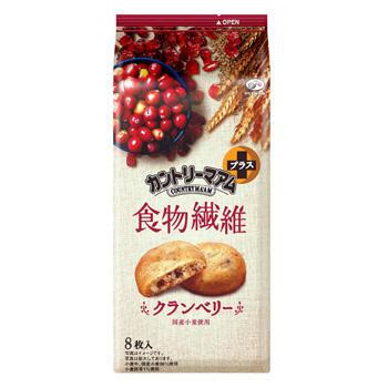 8枚カントリーマアムプラス食物繊維(クランベリー)
