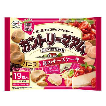 19枚カントリーマアム(バニラ&苺のチーズケーキ)