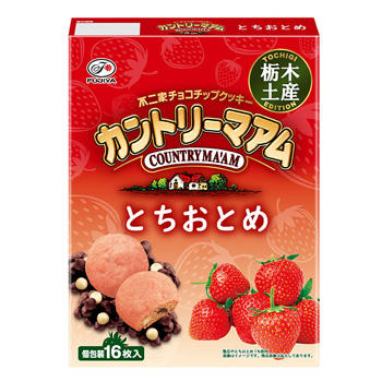 【栃木土産】16枚カントリーマアム(とちおとめ)