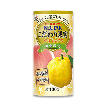 ネクターこだわり果実 ゆずミックス(195gカートカン)