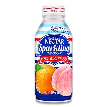 ネクタースパークリング ピーチ&バレンシアオレンジ(380mlボトル缶)