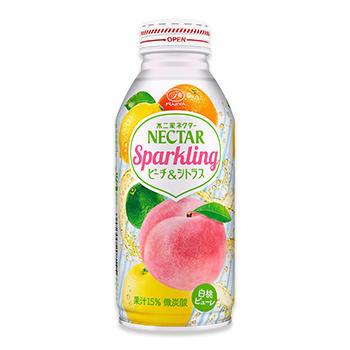 ネクタースパークリング ピーチ&シトラス(380mlボトル缶)