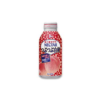 ネクターつぶつぶ白桃(380gボトル缶)